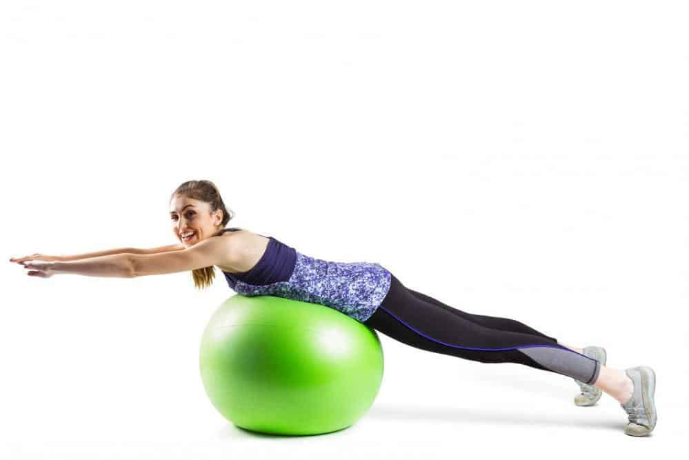 green exercise ball